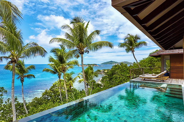 Six Senses Zil Pasyon, Seychelles. Set on the private island of Félicité, the resort boasts pristine beaches and a spa perched atop massive natural boulders that elevates the charm of a truly enigmatic destination. For reservations, call +248 4 671 000.